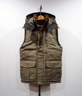 HOODED VEST [JUNGLE CLOTH]