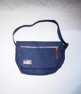 UTILITY SHOULDER BAG / 15oz DENIM NAVY-ST
