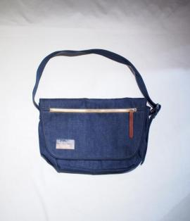 UTILITY SHOULDER BAG / 15oz DENIM ORANGE-ST