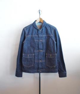 ROUND COLLAR DENIM JUMPER /KIBATA-OW