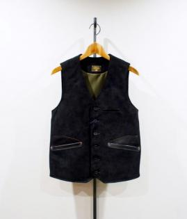 SUEDE LEATHER VEST <STEER-HIDE>