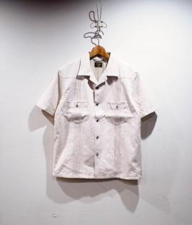 OPEN COLLAR PIN TUCK SHIRTS