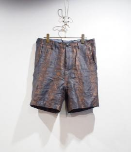 WIDE SHORTS / FLOWAR STRIPE