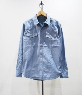 HEAVY CHAMBRAY WESTERN SH