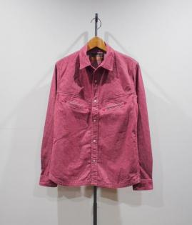 TUCK OUT WESTERN SHIRTS -DENIM-