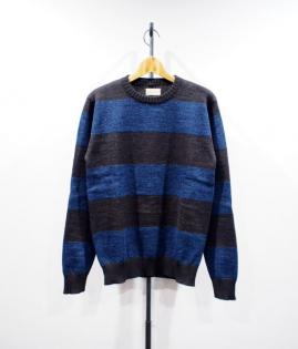 HEATHER BORDER KNIT LS