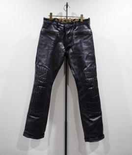 PADDED LEATHER PANTS -HORSE HIDE-