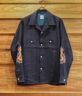 OPEN COLLAR SHIRTS / JAPAN-LINEN / FUNNY DRAGON