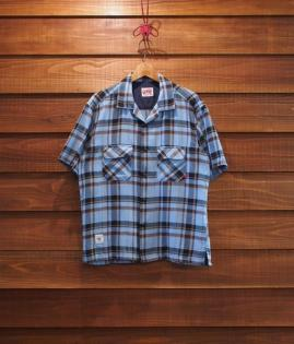▶︎ OPEN COLLAR SHIRTS / CHECK